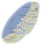 Holland &amp; Belgium Biking Map